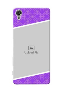 Sony Xperia X Violet Pattern Mobile Case Design