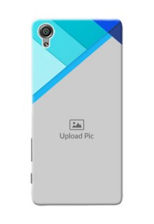Sony Xperia X Blue Abstract Mobile Cover Design