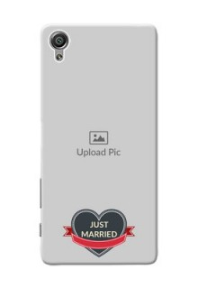 Sony Xperia X Just Married Mobile Cover Design