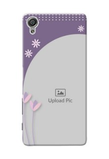 Sony Xperia X lavender background with flower sprinkles Design Design