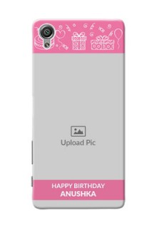Sony Xperia X plain birthday line arts Design
