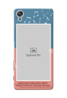 Sony Xperia X 2 colour backdrop with music theme Design Design
