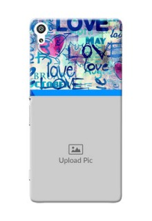 Sony Xperia XA Ultra Colourful Love Patterns Mobile Case Design