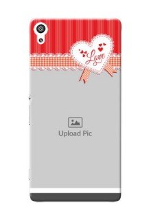 Sony Xperia XA Ultra Red Pattern Mobile Cover Design