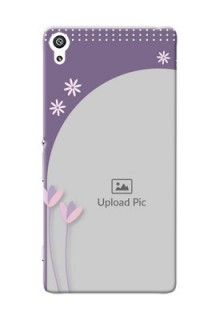 Sony Xperia XA Ultra lavender background with flower sprinkles Design Design