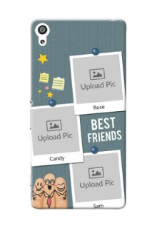Sony Xperia XA Ultra 3 image holder with sticky frames and friendship day wishes Design