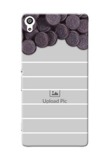Sony Xperia XA Ultra oreo biscuit pattern with white stripes Design Design