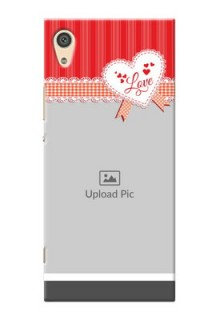 Sony Xperia Xa1 Ultra Red Pattern Mobile Cover Design