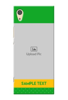 Sony Xperia Xa1 Ultra Green And Yellow Pattern Mobile Cover Design