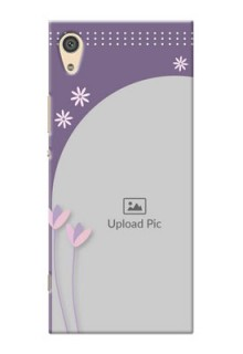 Sony Xperia Xa1 Ultra lavender background with flower sprinkles Design
