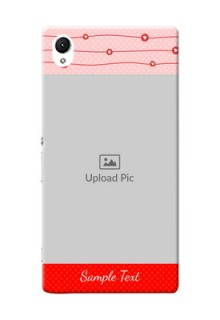 Sony Xperia Z1 Red Pattern Mobile Case Design