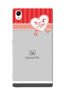 Sony Xperia Z1 Red Pattern Mobile Cover Design