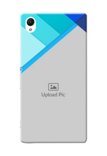 Sony Xperia Z1 Blue Abstract Mobile Cover Design