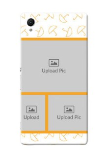 Sony Xperia Z1 Yellow Pattern Mobile Back Cover Design