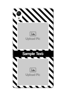 Sony Xperia Z1 2 image holder with black and white stripes Design