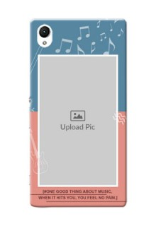 Sony Xperia Z1 2 colour backdrop with music theme Design