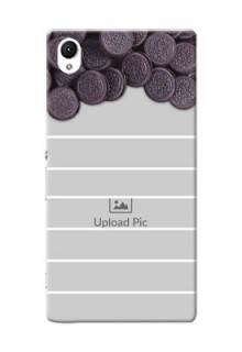 Sony Xperia Z1 oreo biscuit pattern with white stripes Design Design