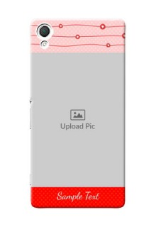 Sony Xperia Z3 Red Pattern Mobile Case Design