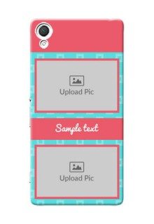 Sony Xperia Z3 Pink And Blue Pattern Mobile Case Design