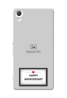 Sony Xperia Z3 Happy Anniversary Mobile Cover Design