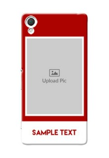 Sony Xperia Z3 Simple Red Colour Mobile Cover  Design