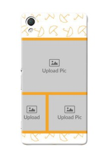 Sony Xperia Z3 Yellow Pattern Mobile Back Cover Design