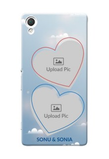 Sony Xperia Z3 couple heart frames with sky backdrop Design