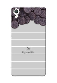 Sony Xperia Z3 oreo biscuit pattern with white stripes Design