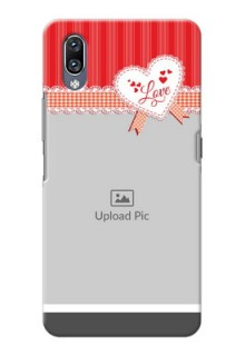 Vivo Nex phone cases online: Red Love Pattern Design