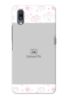 Vivo Nex personalized phone covers: Pink Flying Heart Design