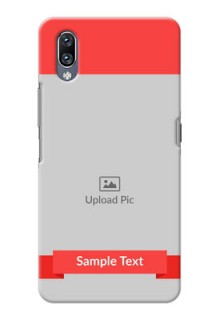 Vivo Nex Personalised mobile covers: Simple Red Color Design