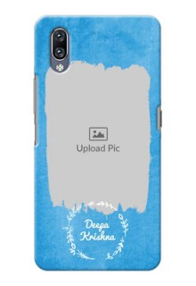 Vivo Nex custom mobile cases: Blue Color Vintage Design