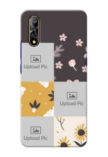 Vivo S1 phone cases online: 3 Images with Floral Design