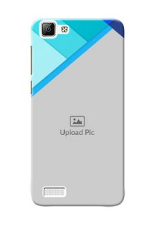 Vivo V1 Blue Abstract Mobile Cover Design
