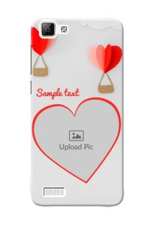 Vivo V1 Love Abstract Mobile Case Design