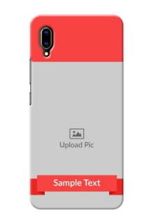 Vivo V11 Pro Personalised mobile covers: Simple Red Color Design
