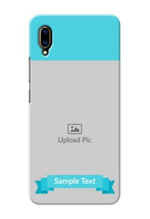 Vivo V11 Pro Personalized Mobile Covers: Simple Blue Color Design