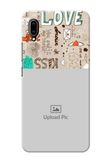 Vivo V11 Pro Personalised mobile covers: Love Doodle Pattern