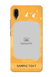 Vivo V11 Pro Phone Covers: Water Color Design with Bird Icons