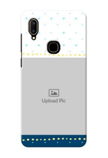 Vivo V11 Phone Covers: White and Blue Abstract Design