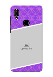 Vivo V11 mobile back covers online: violet Pattern Design