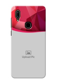 Vivo V11 custom mobile back covers: Red Abstract Design
