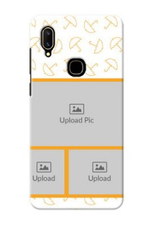 Vivo V11 Personalised Phone Cases: Yellow Pattern Design