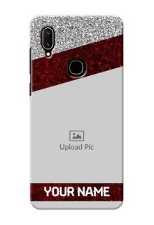 Vivo V11 Mobile Cases: Image Holder with Glitter Strip Design