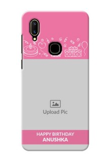 Vivo V11 Custom Mobile Cover with Birthday Line Art Design