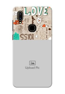 Vivo V11 Personalised mobile covers: Love Doodle Pattern