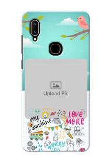 Vivo V11 phone cases online: Doodle love Design