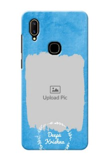 Vivo V11 custom mobile cases: Blue Color Vintage Design