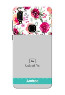 Vivo V11 Personalized Mobile Cases: Watercolor Floral Design