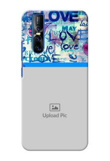 Vivo V15 Pro Mobile Covers Online: Colorful Love Design